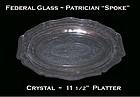 "Federal Glass Patrician ""Spoke"" Crystal Oval Platter"