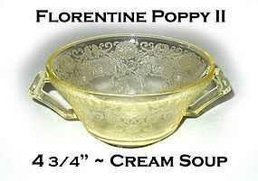 Florentine #2 Yellow Poppy 4 3/4 inch Cream Soup Bowl