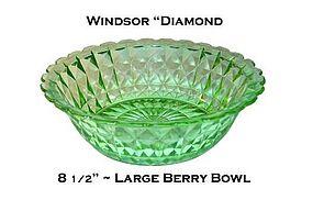 Jeannette ~ Windsor Diamond Green Large Berry Bowl
