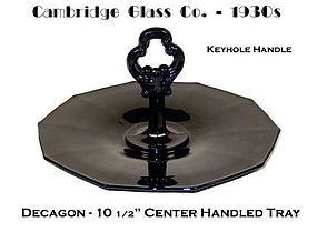 Cambridge ~ Decagon Ebony Center Handled Sanwich Server