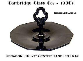Cambridge ~ Decagon Ebony Center Handled Sanwich Server