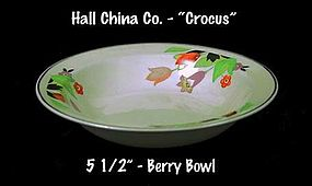 "Hall China ""Crocus"" Pattern Small Berry Bowl"