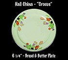 "Hall China ""Crocus"" Pattern 6 inch Bread n Butter Plate"