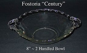 Fostoria Century 8 inch ~ 2 Handled Serving Bowl