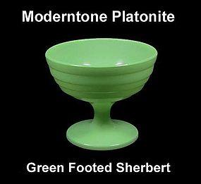 Moderntone Platonite Pastel Green Footed Sherbert