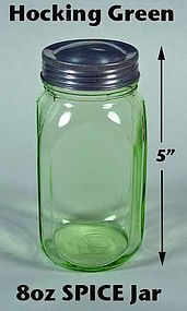 Hocking Green 8oz Smooth Sided Spice Jar