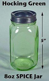 Hocking Green 8oz Smooth Sided Spice Jar