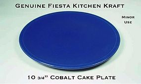 HLC Genuine Fiesta Kitchen Kraft Cobalt Cake Plate