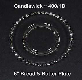 Imperial Candlewick 400/1D 6 inch Bread & Butter Plate