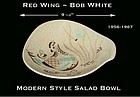 "Red Wing Bob White Modern Style 9 1/2"" Salad Bowl"