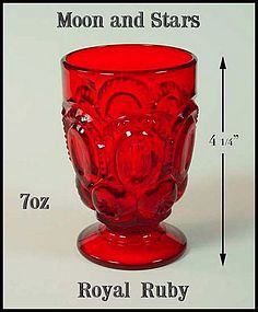 Moon and Stars L.G. Wright Ruby Red Ftd Tumbler