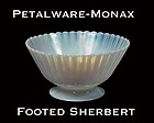 MacBeth-Evans Petalware Monax Footed Sherbert