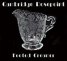 Cambridge Rosepoint Elegant Footed Creamer