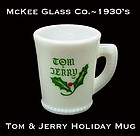 McKee Glass Co.~1940s Christmas Tom & Jerry Mug