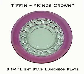 "Tiffin Kings Crown Light Stain 8 1/4"" Luncheon Plates"
