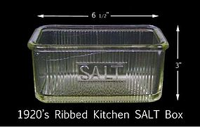Sellers Hoosier Ribbed 1920 Kitchen SALT Box