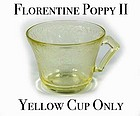 Hazel Atlas Florentine #2 - Yellow Cup Only