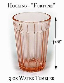 Hocking Glass - Fortune Pink 4 inch - 9oz Tumbler