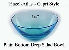 Hazel Atlas 1960s Capri Plain Bottom Deep Salad Bowl