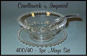 Imperial Candlewick 400/40 - 1940�s 3pc Mayo Set