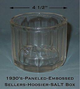 Sellers Hoosier Paneled & Embossed 30s Kitchen SALT Box