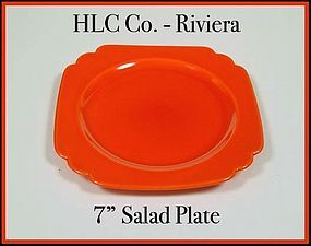 Vintage HLC Genuine Riviera Red 7 inch Salad Plate