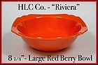 Vintage HLC Genuine Riviera Red Large Berry Bowl