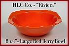 Vintage HLC Genuine Riviera Red Large Berry Bowl