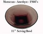 "Hazel Atlas Moroccan Amethyst Large 11""  Serving Bowl"
