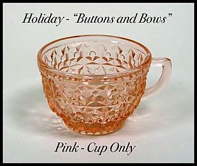 Holiday Buttons and Bows Pink Cup Only