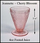 Jeannette Cherry Blossom 1930s ~ 4oz Footed Juice Glass