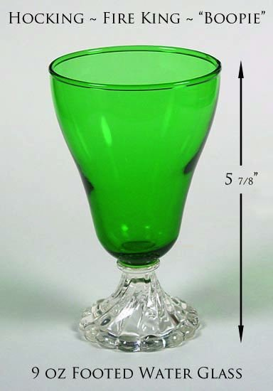 Hocking Fire King Green Boopie 5 7/8 inch Water Tumbler