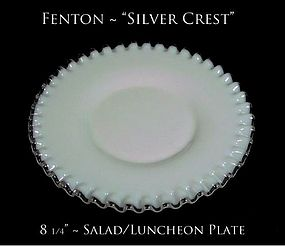 Fenton Art Glass Silver Crest Salad/Luncheon Plate