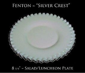 Fenton Art Glass Silver Crest Salad/Luncheon Plate