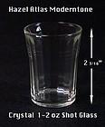 Hazel Atlas Moderntone HTF Crystal 1-2 oz Shot Glass