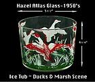Hazel Atlas Unusual Marsh Scene Ice Tub Bucket