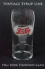 Old 1950s Pepsi Cola Fountain Glass 10 oz Tumbler-Syrup
