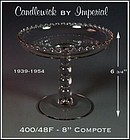 Candlewick 400/48F-8 inch-4 Bead Stem Tall Compote