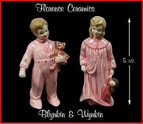 Vintage Florence Ceramics Wynkin and Blynkin Children