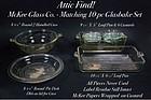 McKee-1940's Attic Find! Glasbake Never Used 10 pc Set
