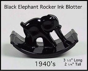 Black Elephant 1940's Rocker Blotter For Ink Pen