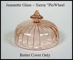 Jeannette~1930's Sierra Pinwheel Butter Lid Only