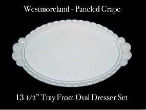 WMG Paneled Grape HTF Large Oval Dresser Set Tray-Nice!