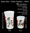 Hazel Atlas ~ H is for HORSE~Juice & Milk Glass
