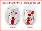 Vintage Peanut Butter Swanky Swig Glass Cats Dancing