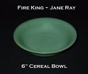 "Fire King Jadeite ""Jane Ray"" 6"" Cereal Bowl"