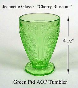 Jeannette ~ Cherry Blossom Green ~ AOP Ftd Tumbler