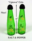 Up Town Cola ~ Pop Bottle SALT & PEPPER Shakers O-I