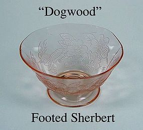 MacBeth-Evans ~ Dogwood Pink ~ Footed Sherbert