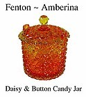 Fenton Art Glass ~ Amberina Daisy and Button Candy Jar